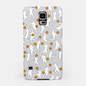 Thumbnail image of Basketball Player Pattern WHITE Samsung Case, Live Heroes