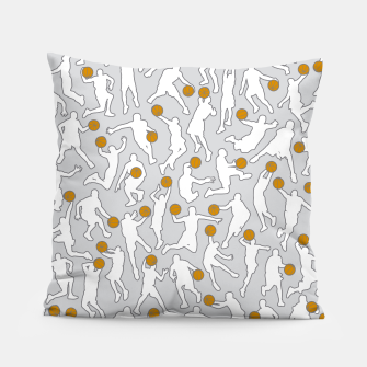 Thumbnail image of Basketball Player Pattern WHITE Pillow, Live Heroes