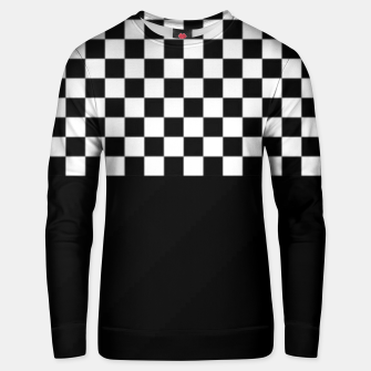 Thumbnail image of Black and White Squares Unisex sweater, Live Heroes
