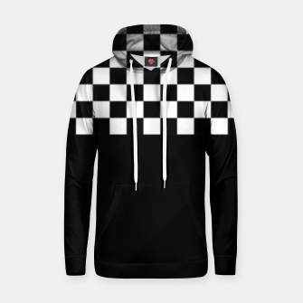 Thumbnail image of Black and White Squares Hoodie, Live Heroes