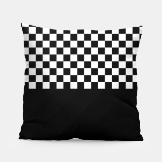 Thumbnail image of Black and White Squares Pillow, Live Heroes