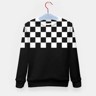 Thumbnail image of Black and White Squares Kid's sweater, Live Heroes