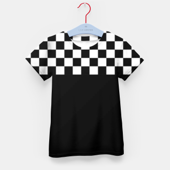 Thumbnail image of Black and White Squares Kid's t-shirt, Live Heroes