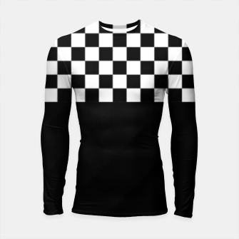 Thumbnail image of Black and White Squares Longsleeve rashguard , Live Heroes