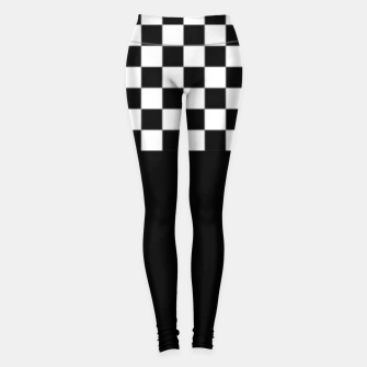 Thumbnail image of Black and White Squares Leggings, Live Heroes