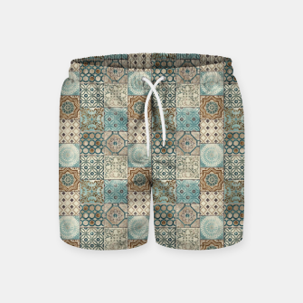 Thumbnail image of Heritage Old Style Moroccan Tiles Swim Shorts, Live Heroes