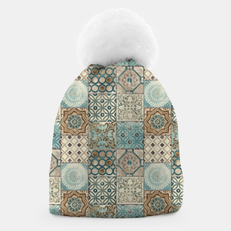 Thumbnail image of Heritage Old Style Moroccan Tiles Beanie, Live Heroes