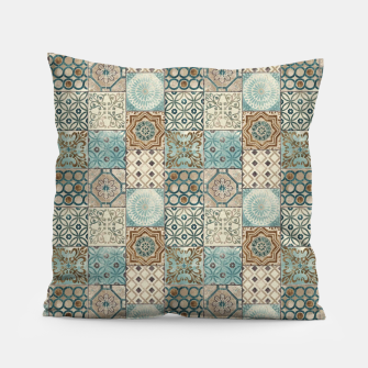Thumbnail image of Heritage Old Style Moroccan Tiles Pillow, Live Heroes