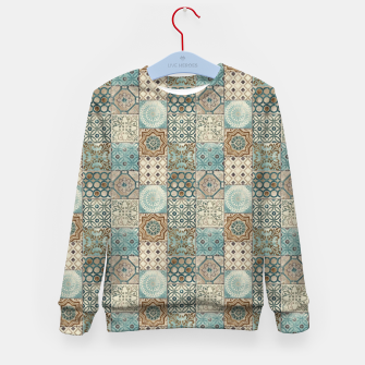 Thumbnail image of Heritage Old Style Moroccan Tiles Kid's sweater, Live Heroes