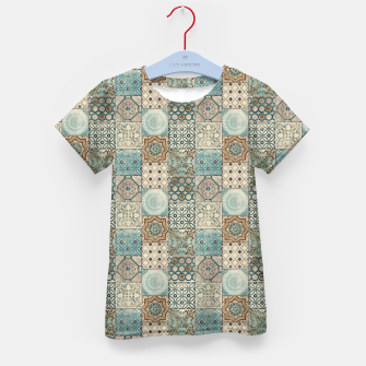 Thumbnail image of Heritage Old Style Moroccan Tiles Kid's t-shirt, Live Heroes