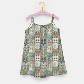 Thumbnail image of Heritage Old Style Moroccan Tiles Girl's dress, Live Heroes