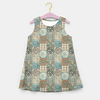 Thumbnail image of Heritage Old Style Moroccan Tiles Girl's summer dress, Live Heroes