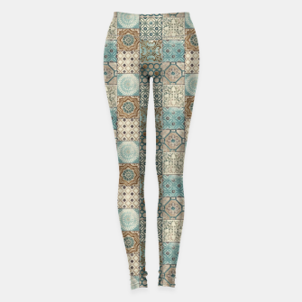 Thumbnail image of Heritage Old Style Moroccan Tiles Leggings, Live Heroes
