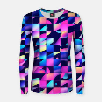 Thumbnail image of Chaos (Geometric Aesthetic Vaporwave) Women sweater, Live Heroes