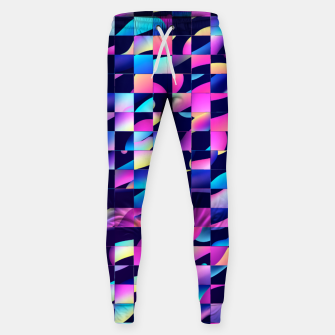 Thumbnail image of Chaos (Geometric Aesthetic Vaporwave) Sweatpants, Live Heroes