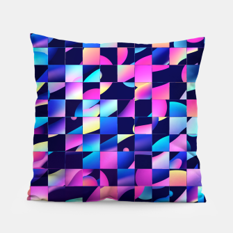 Thumbnail image of Chaos (Geometric Aesthetic Vaporwave) Pillow, Live Heroes