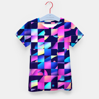 Thumbnail image of Chaos (Geometric Aesthetic Vaporwave) Kid's t-shirt, Live Heroes