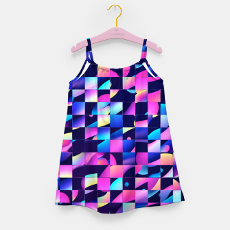 Thumbnail image of Chaos (Geometric Aesthetic Vaporwave) Girl's dress, Live Heroes