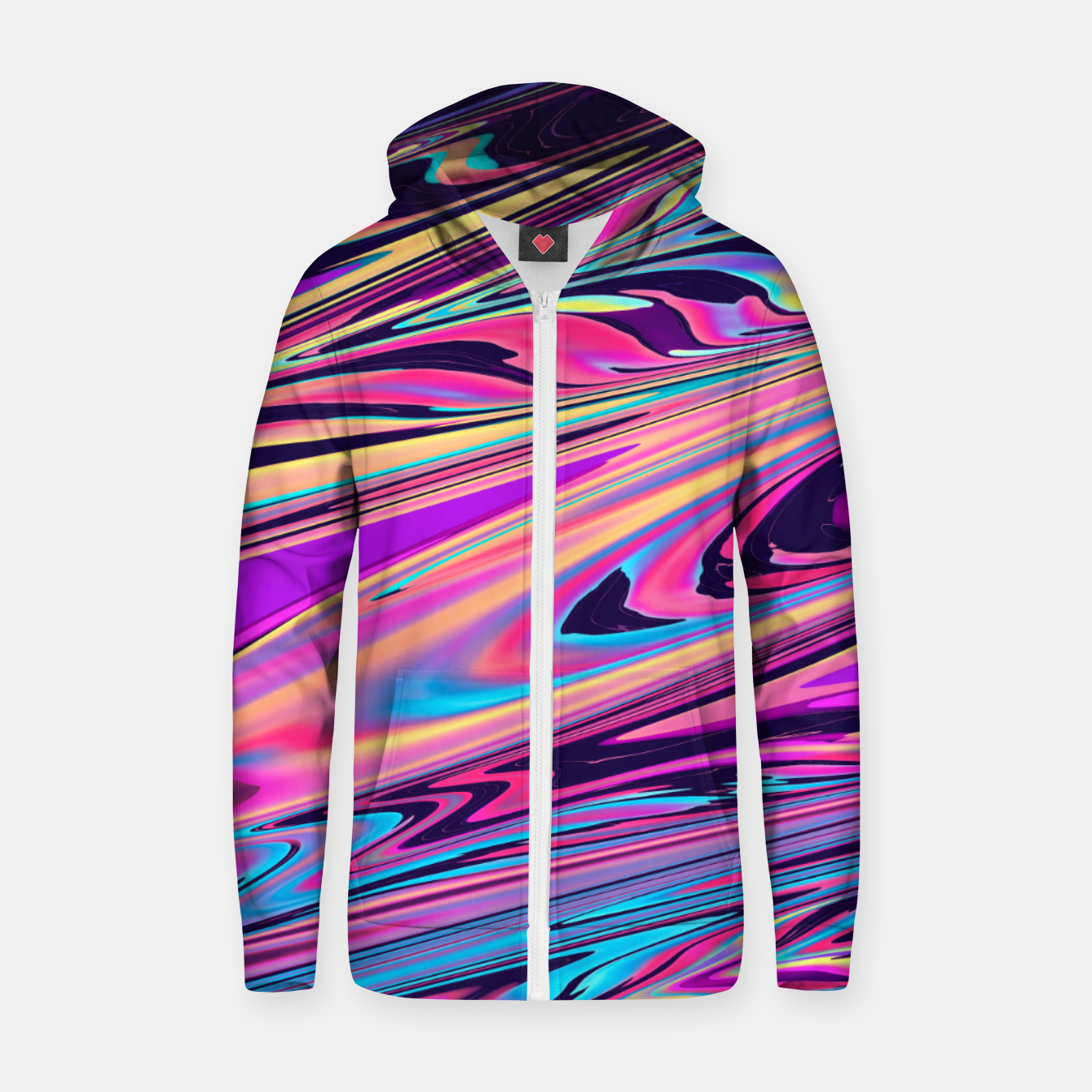 Image of Freedom Aesthetic Vaporwave Zip up hoodie - Live Heroes