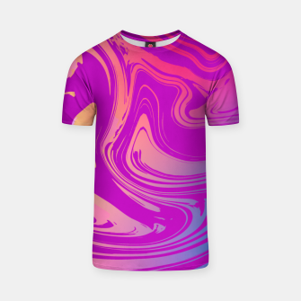 Thumbnail image of Charm Aesthetic Vaporwave T-shirt, Live Heroes