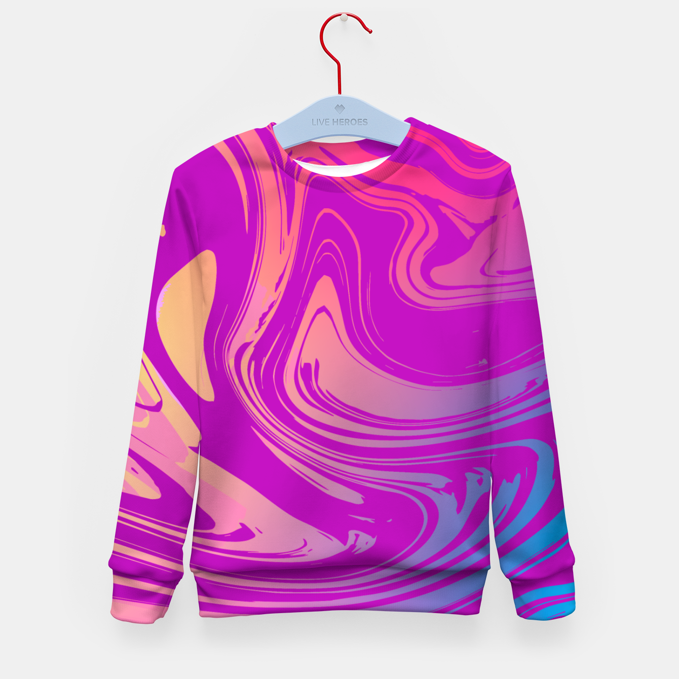 Image of Charm Aesthetic Vaporwave Kid's sweater - Live Heroes