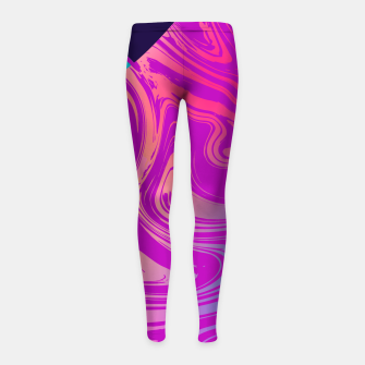 Charm Aesthetic Vaporwave Girl's leggings thumbnail image