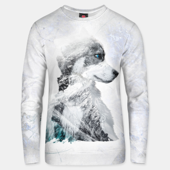 Thumbnail image of Nordic Dog with Double Exposure Unisex sweatshirt, Live Heroes