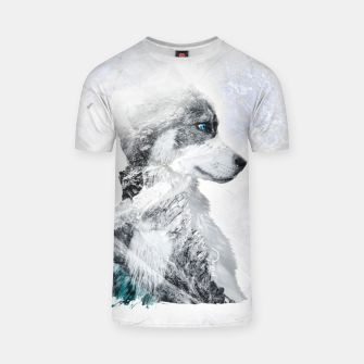 Miniaturka Nordic Dog with Double Exposure T-Shirt, Live Heroes