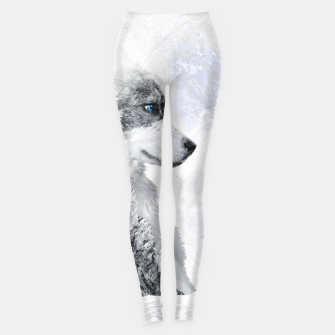 Thumbnail image of Nordic Dog with Double Exposure Leggings, Live Heroes