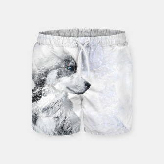 Thumbnail image of Nordic Dog with Double Exposure Badeshorts, Live Heroes