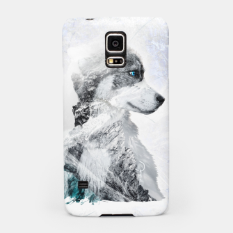 Thumbnail image of Nordic Dog with Double Exposure Handyhülle für Samsung, Live Heroes