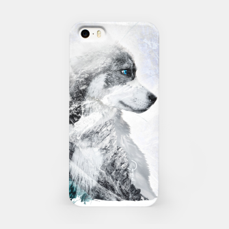 Thumbnail image of Nordic Dog with Double Exposure iPhone-Hülle, Live Heroes