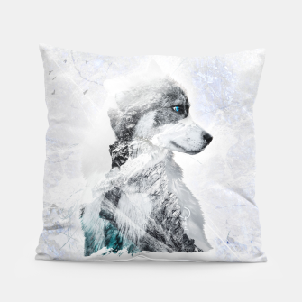 Thumbnail image of Nordic Dog with Double Exposure Kissen, Live Heroes