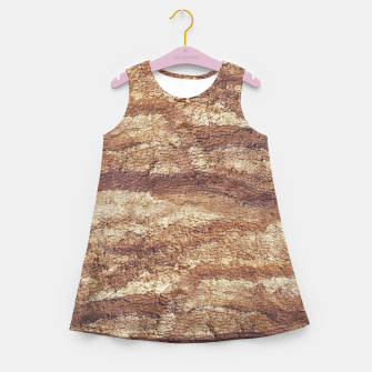 Thumbnail image of Grunge Surface Abstract Print Girl's summer dress, Live Heroes