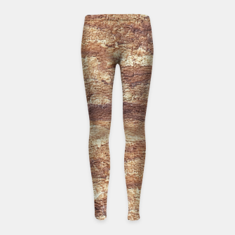 Thumbnail image of Grunge Surface Abstract Print Girl's leggings, Live Heroes