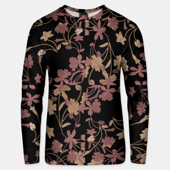 Thumbnail image of Dark Floral Ornate Print Unisex sweater, Live Heroes