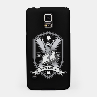 Thumbnail image of Carpe Librum Bookish Coat Of Arms Librarian Bookworm Samsung Case, Live Heroes