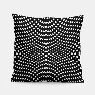 Thumbnail image of Black and White Geometric Kinetic Pattern Pillow, Live Heroes