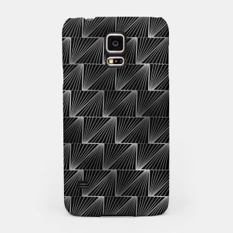 Thumbnail image of Diagonal Triangles in Black and Silver Vintage Faux Foil Art Deco Vintage Foil Pattern Samsung Case, Live Heroes