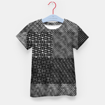 Thumbnail image of Large Silver and Black Vintage Art Deco Quilt Pattern Kid's t-shirt, Live Heroes