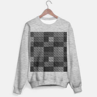 Thumbnail image of Silver and Black Vintage Art Deco Quilt Pattern Sweater regular, Live Heroes