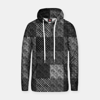 Thumbnail image of Silver and Black Vintage Art Deco Quilt Pattern Hoodie, Live Heroes