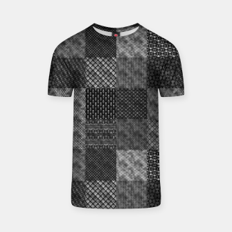 Thumbnail image of Silver and Black Vintage Art Deco Quilt Pattern T-shirt, Live Heroes