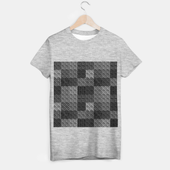Thumbnail image of Silver and Black Vintage Art Deco Quilt Pattern T-shirt regular, Live Heroes