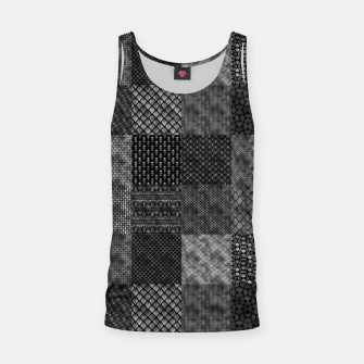 Thumbnail image of Silver and Black Vintage Art Deco Quilt Pattern Tank Top, Live Heroes