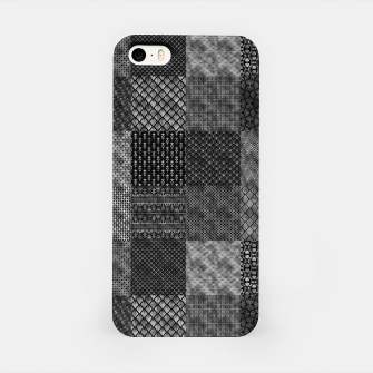 Thumbnail image of Silver and Black Vintage Art Deco Quilt Pattern iPhone Case, Live Heroes