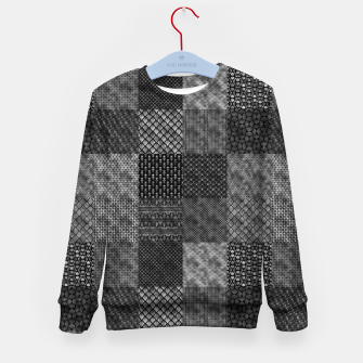 Thumbnail image of Silver and Black Vintage Art Deco Quilt Pattern Kid's sweater, Live Heroes