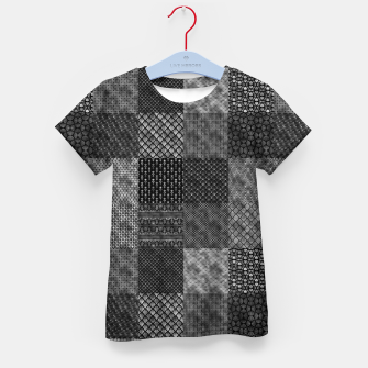 Thumbnail image of Silver and Black Vintage Art Deco Quilt Pattern Kid's t-shirt, Live Heroes