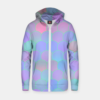 Blobs Pattern ti Zip up hoodie thumbnail image