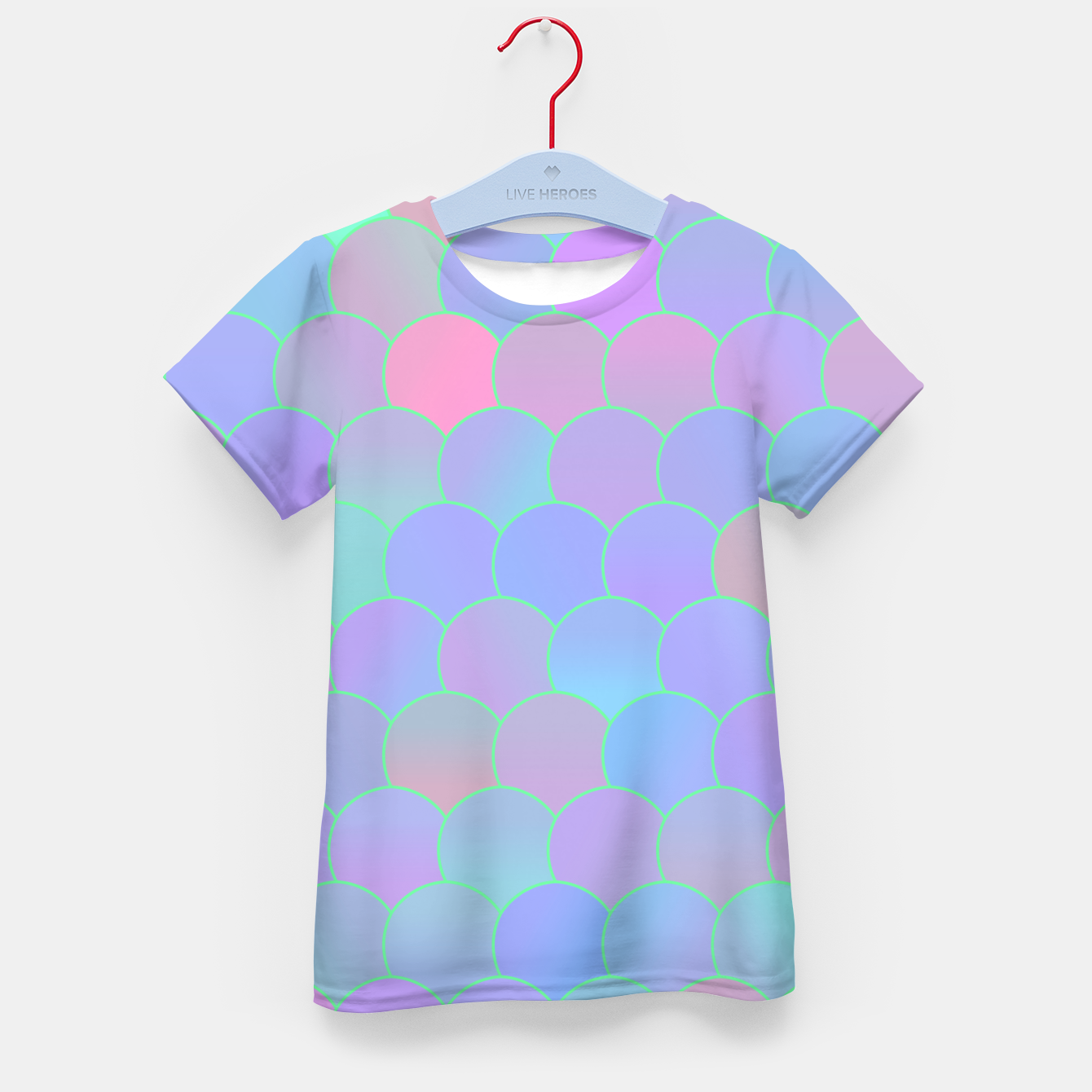 Image of Blobs Pattern ti Kid's t-shirt - Live Heroes